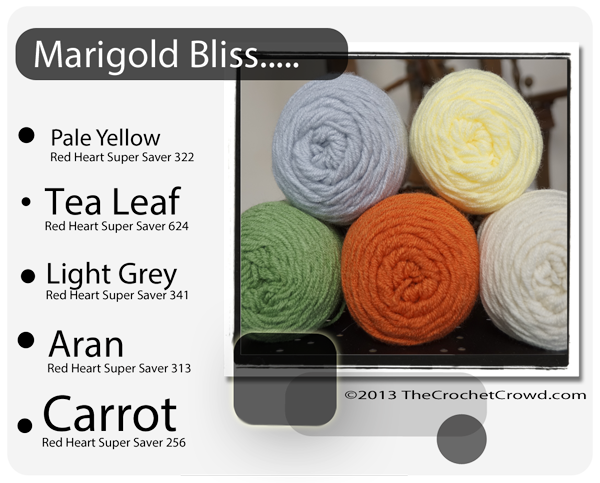Flower Inspired Yarn Colours for Marigold.