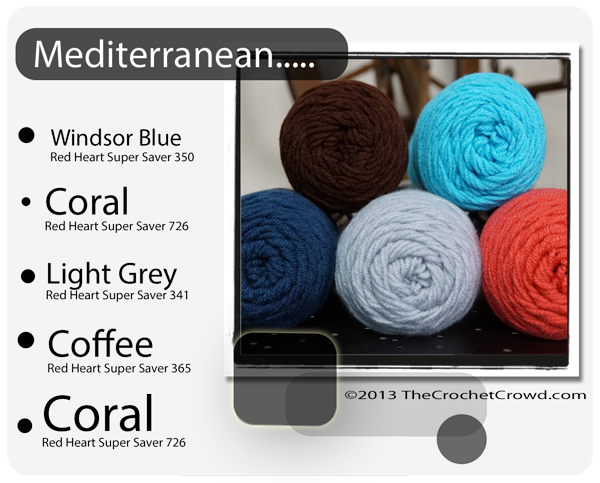 Red Heart Super Saver Color Mix: Mediterranian