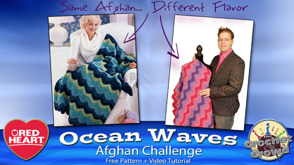 Ocean Waves Chevron Crochet Afghan