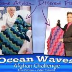 Crochet Ocean Waves Afghan + Tutorial