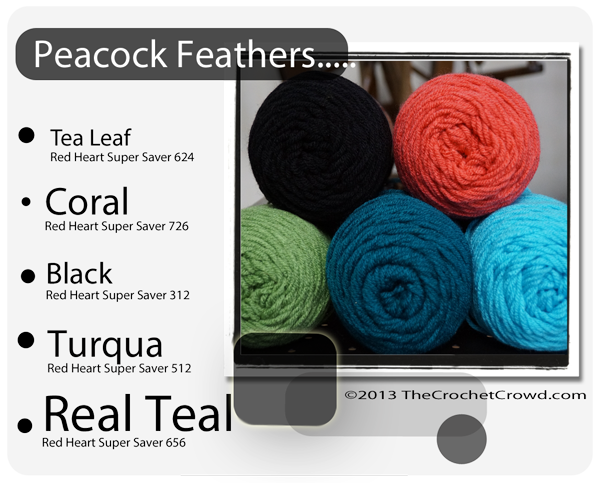 Peacock Yarn Colours