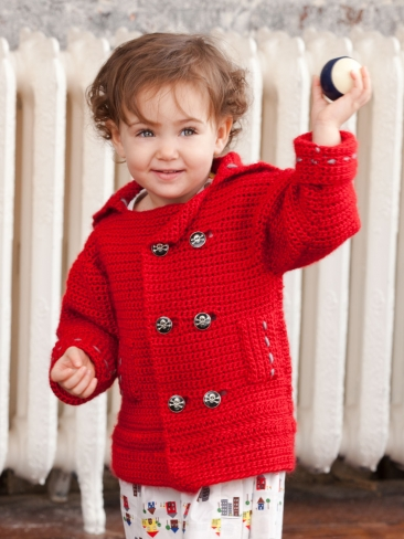 Crochet Pee Wee Long Coat for Toddlers Pattern