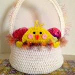 Peek A Boo Easter Chick Basket