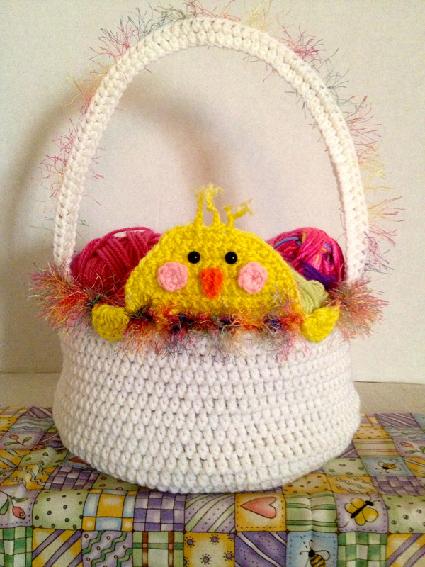Peek A Boo Easter Chick Basket The Crochet Crowd