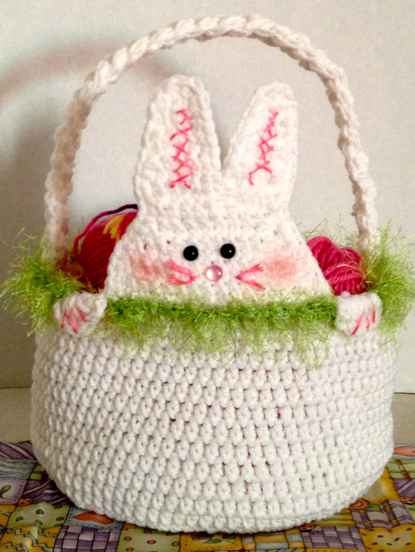 Crochet Rabbit Easter Basket Pattern