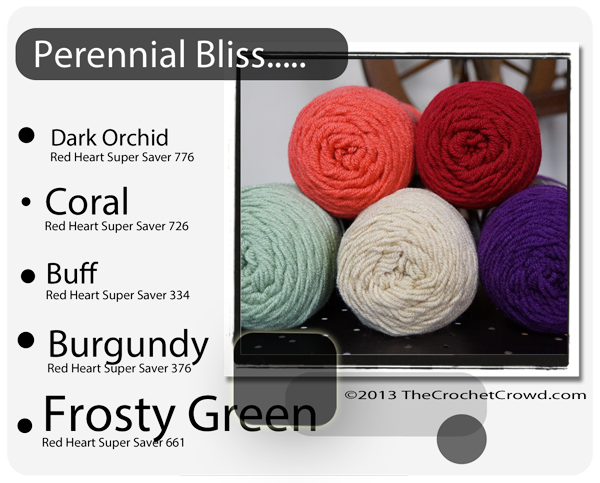 Perennial Inspired Yarn Colours.