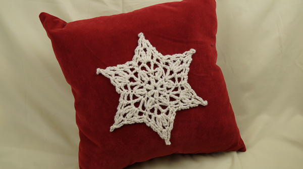 Star Doily Crochet Pillow Pattern