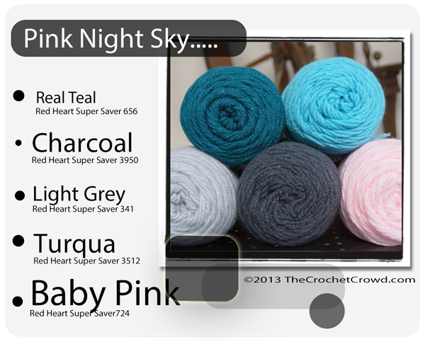Yarn Colours, Pink Night Sky