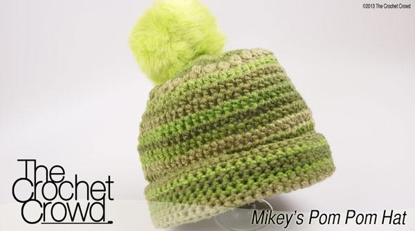 Mikeys Pom Pom Hat The Crochet Crowd