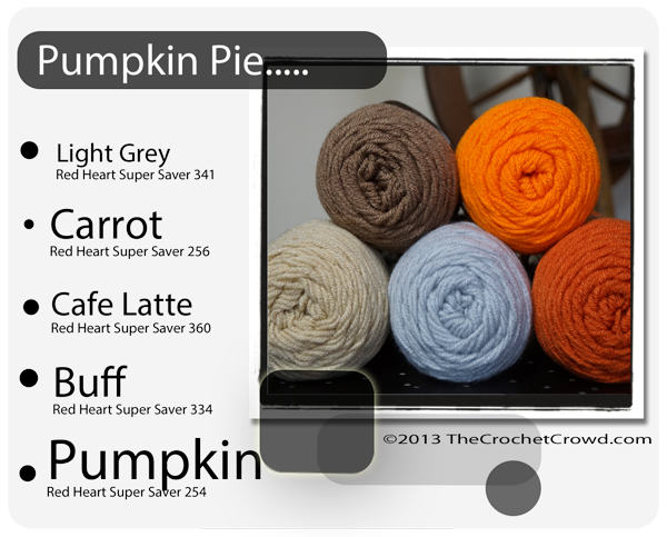 Pumpkin Pie Inspired Yarn Colours.