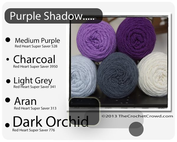 Purple Inspired yarn Colours