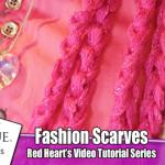 Chain Scarves with Red Heart Sashay