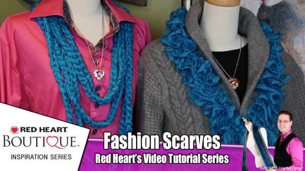 Red Heart Sashay Scarves: How To Wear