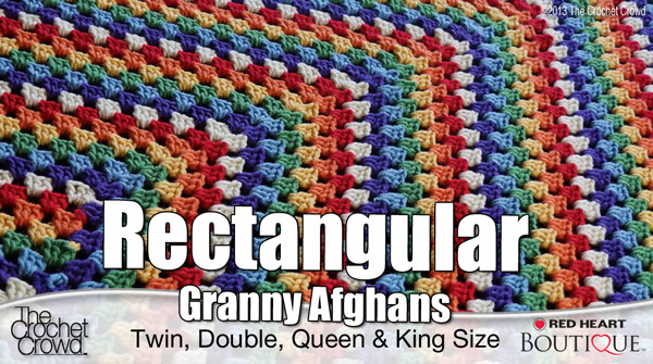 Rectangle Granny Afghans All Sizes The Crochet Crowd