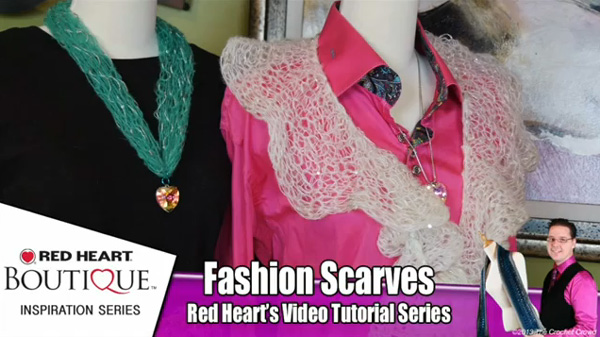 Red Heart Rigoletto Scarf Yarn Tutorials