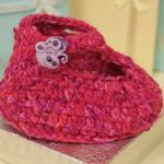 Crochet Ruby Slipper Baby Booties