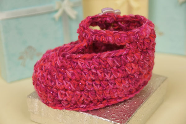 Crochet Ruby Slipper Booties Pattern