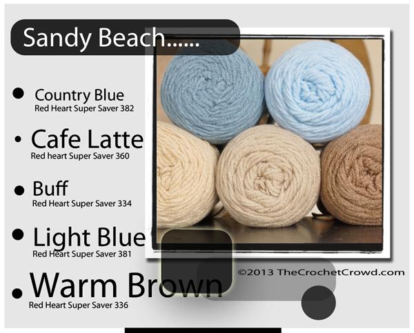 Sandy Beach yarn Colours