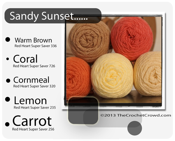Yarn Colours for Sandy Sunsets