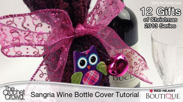 Sangria Wine Bottle Crochet Cover
