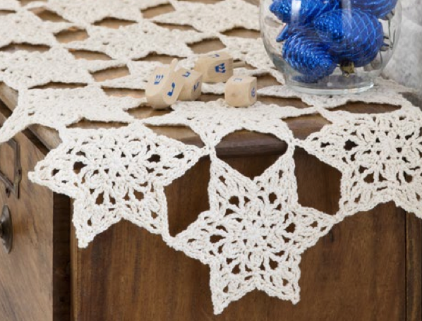 Star Table Top Crochet Runner Pattern