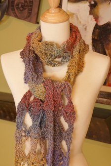 Crochet Double Butterfly Scarf Pattern