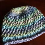 Shallow Seas Blue Beanie Pattern