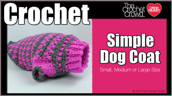 Crochet Simple Dog Sweater Tutorial The Crochet Crowd Impressive Crochet Dog Sweater Pattern Easy