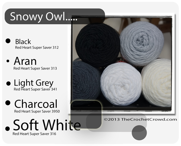 Snowy Owl yarn Colours