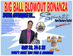 Spinrite's Annual Big Ball Blowout Bananza Huge Yarn Sale