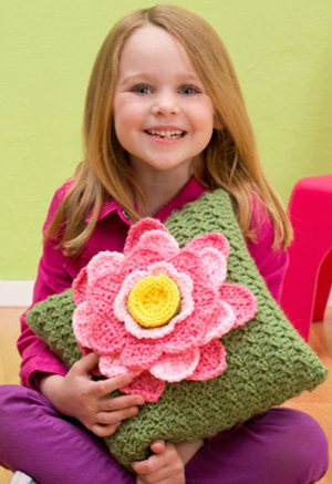 Crochet Spring Fling Pillow