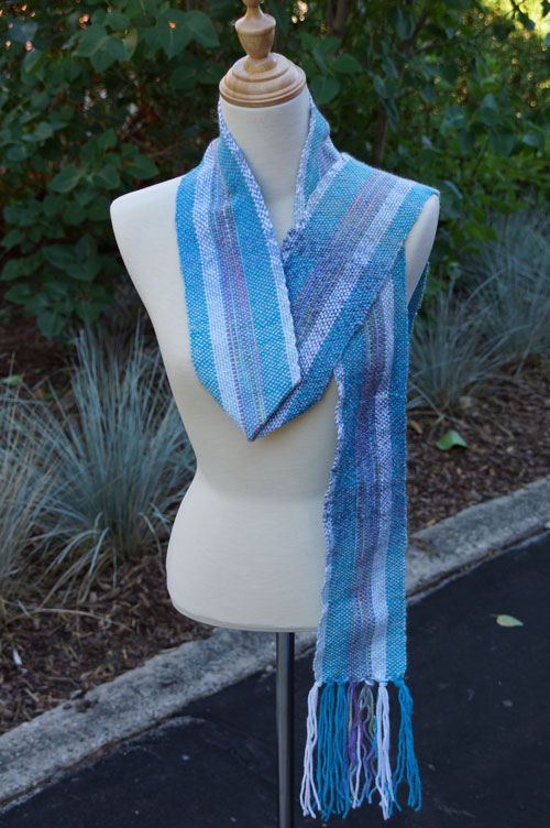 Weave a Blue Starlight Scarf with a Cricket Weaving Loom