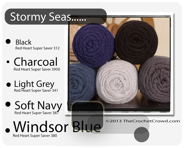 Stormy Seas yarn Colours