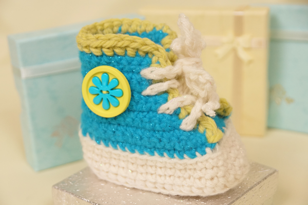 Crochet Baby Bootie High Tops Pattern