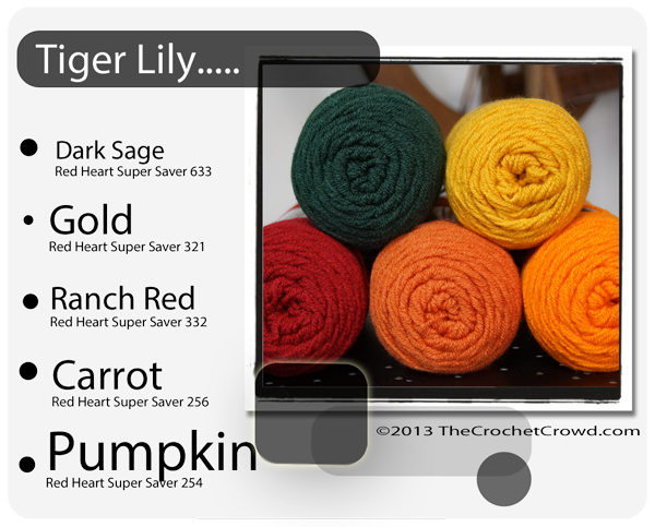 Red Heart Super Saver Color Mix: Tiger Lily