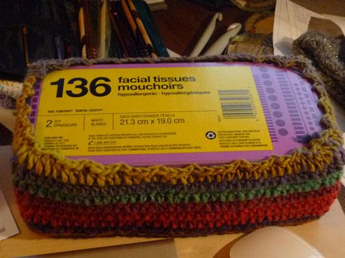 Vibrant Tissue Box Crochet Cover The Crochet Crowd