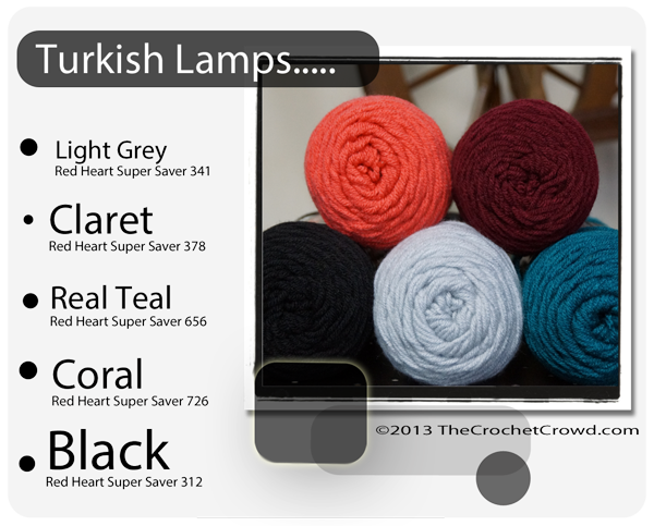 Yarn Colours Inspired by Turkish Lamps