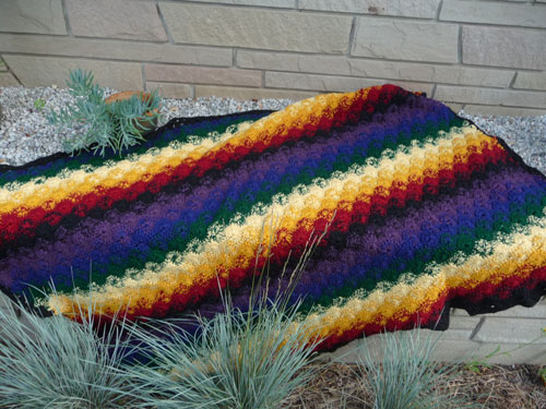 Catherine Wheel Crochet Afghan