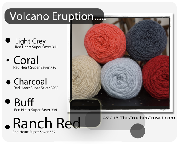 Red Heart Super Saver Color Mix: Volcan Eruption