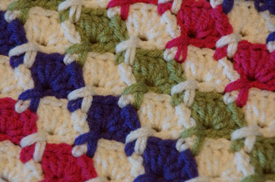 Juicy Fruits Close Up Crochet Afghan