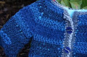 Blue Baby Jacket Crochet Pattern