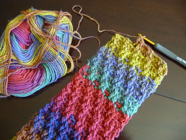 Crochet Woven Scarf - The Crochet Crowd